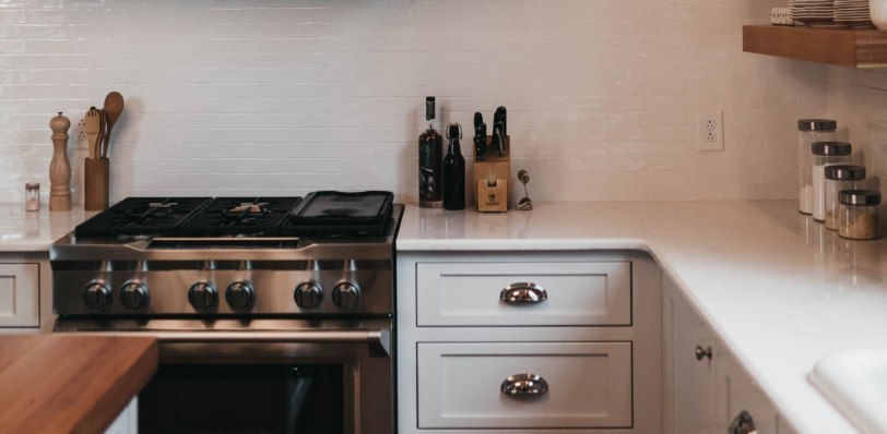 clean oven in white kitchen